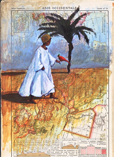 Maghreb - Peinture sur atlas