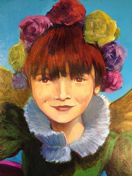 Littérature jeunesse - Fille aux fleurs