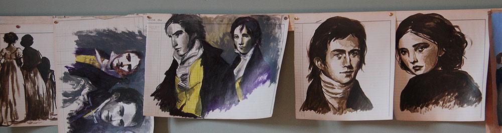 portraits héros romans Jane Austen