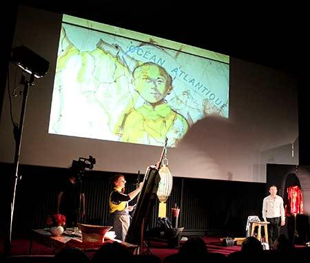 Performance artistique et littéraire avec Guy-prunier à Lons-le Saunier au 4c